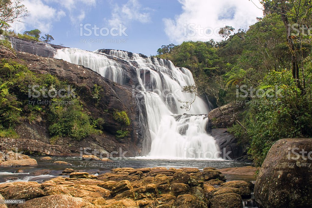 Bakers falls Sri Lanka stock photo