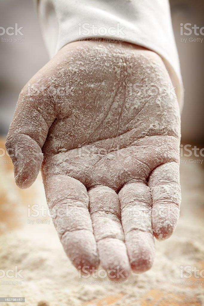 Baker's Hand royalty-free stock photo