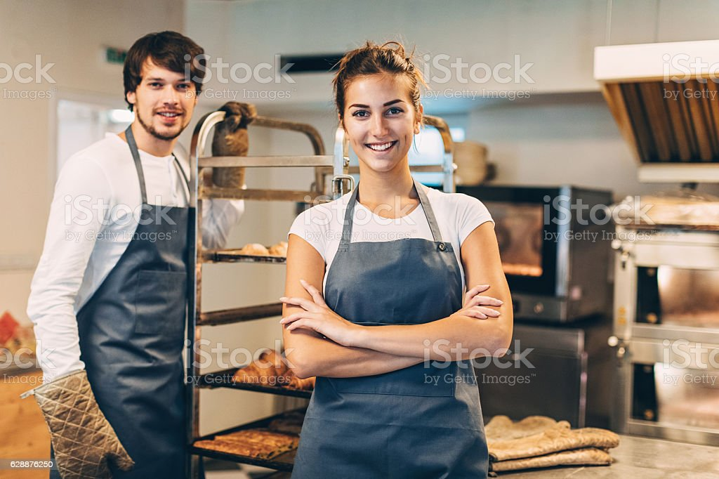 Bakers stock photo