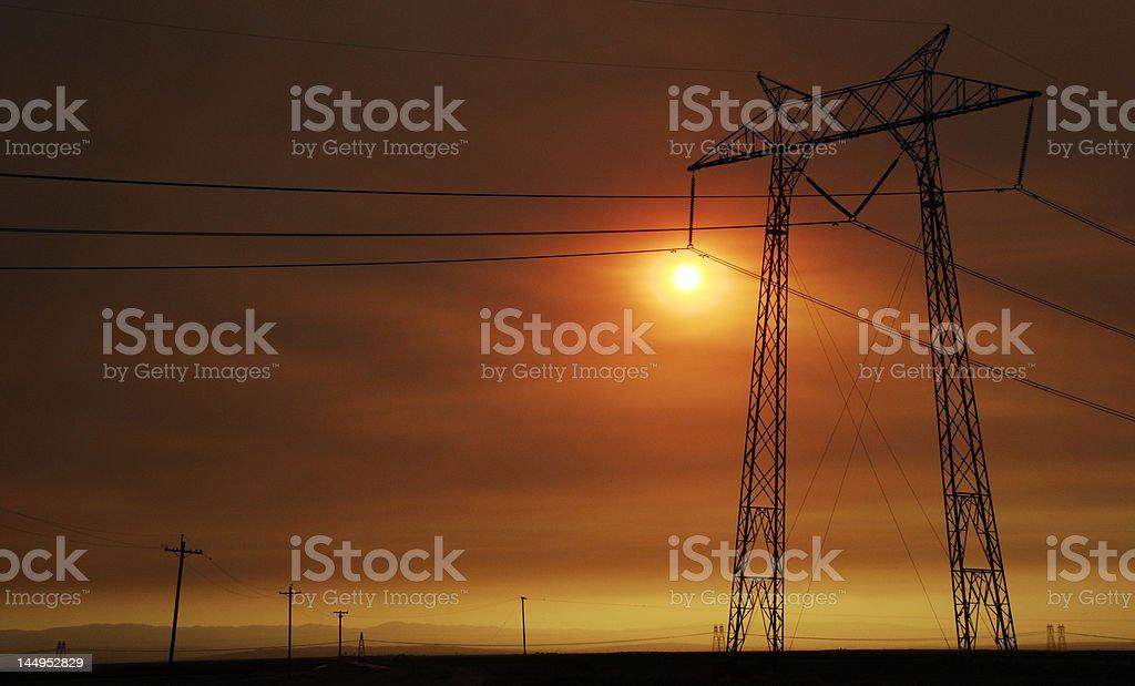 Bakersfield Sunset stock photo