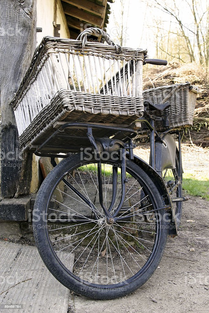 Bakery delivery bike royalty-free stock photo