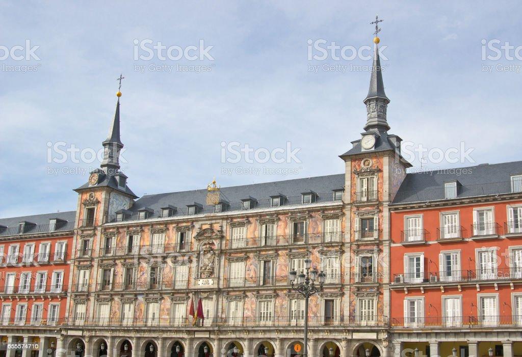 Bakery house (Casa de la Panaderia) on Plaza Mayor in Madrid, Spain stock photo