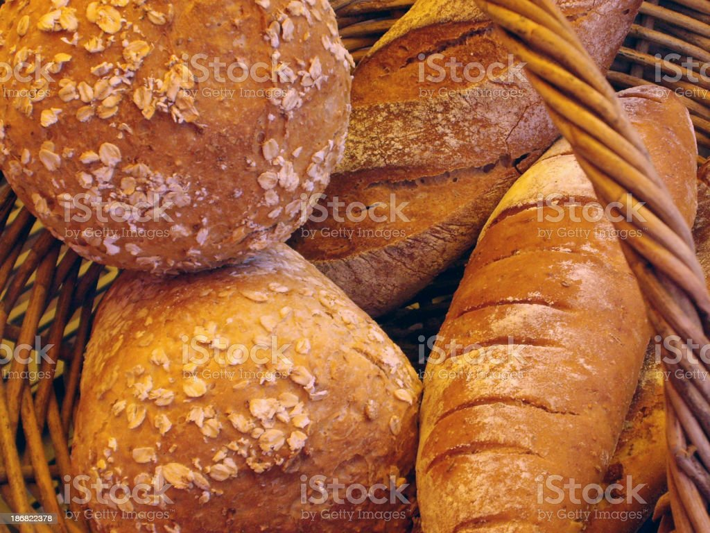 Bakery in a basket royalty-free stock photo
