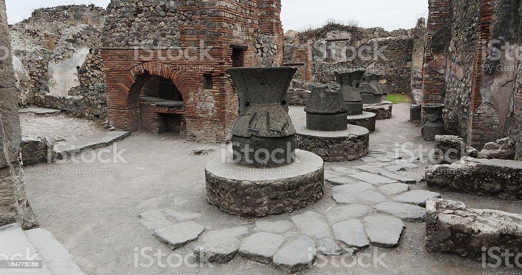 Bakery in Pompeii stock photo