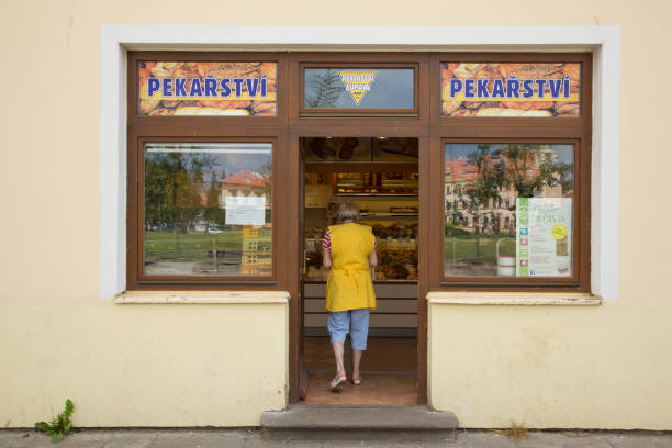 Bakery in Theresienstadt stock photo