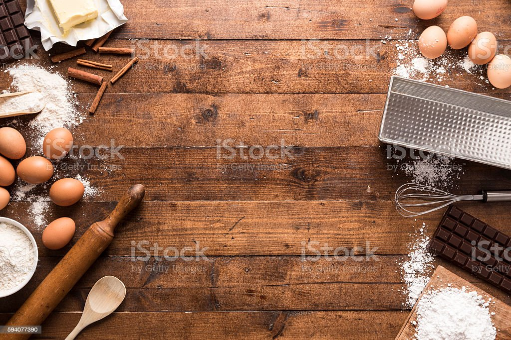 Bakery ingredients and tools – Foto