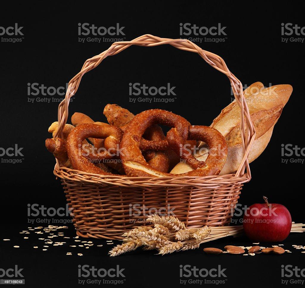 Bakery on table stock photo