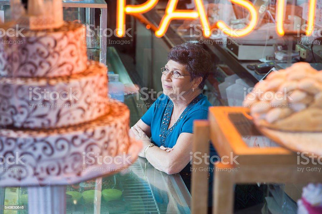 Bäckerei shop-Besitzer – Foto