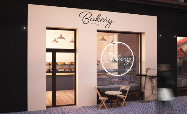 Bäckerei storefront mockup – Foto