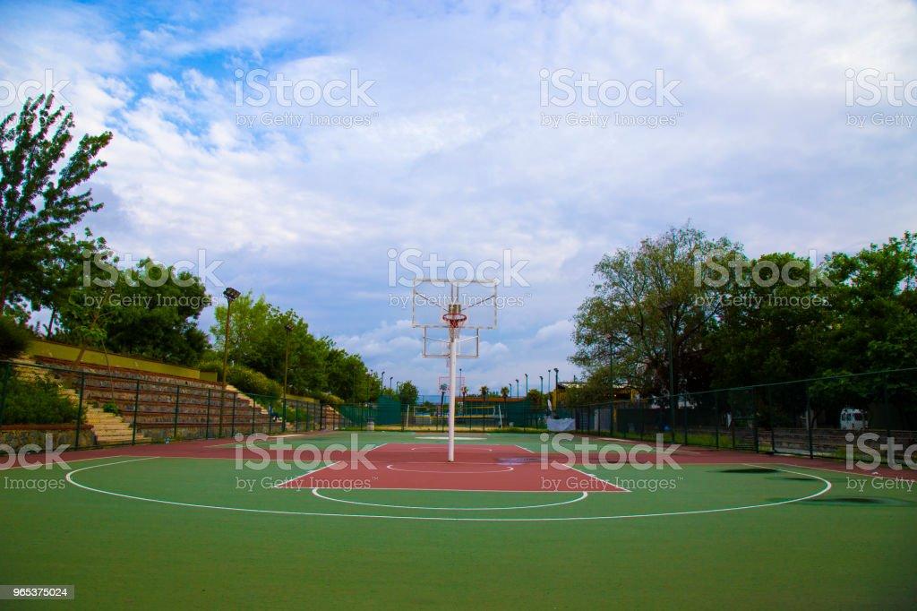 Basketball Court 2 - Lizenzfrei Aufführung Stock-Foto
