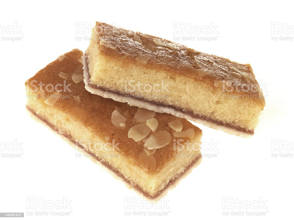 Bakewell Cake Slice stock photo