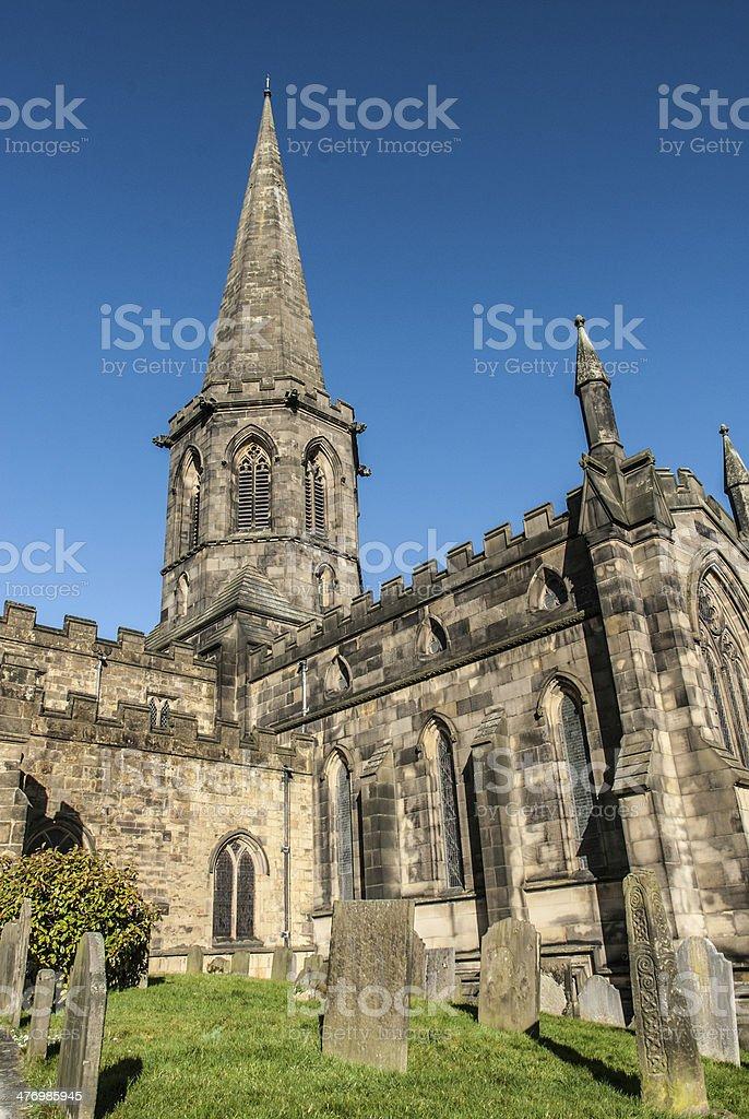 Bakewell Church stock photo