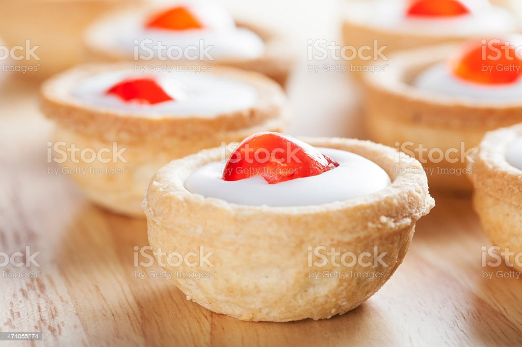 Bakewell Pastries Close Up stock photo
