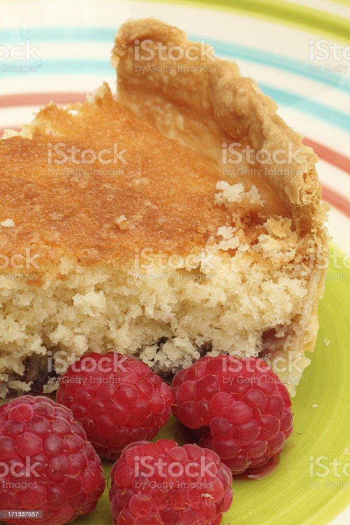 Bakewell pudding slice stock photo