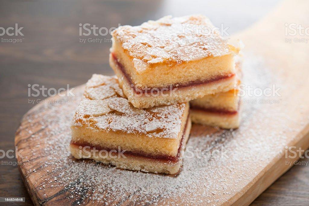 bakewell slices stock photo