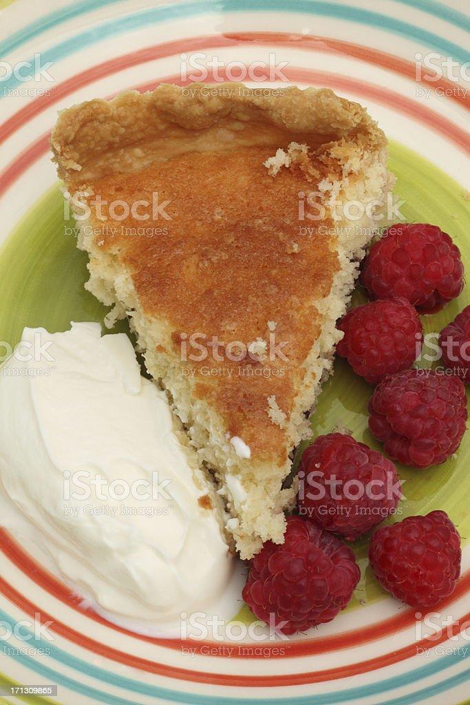 Bakewell tart stock photo