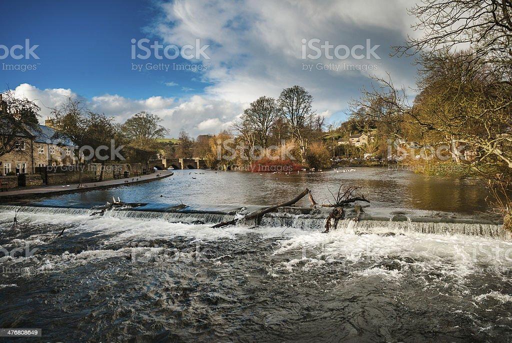 Bakewell Waterfall stock photo