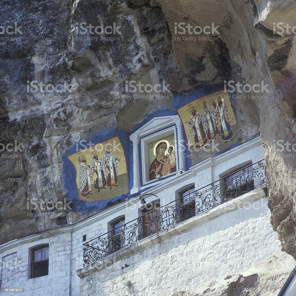 Bakhchisarai-old rock Uspensky  monastery royalty-free stock photo