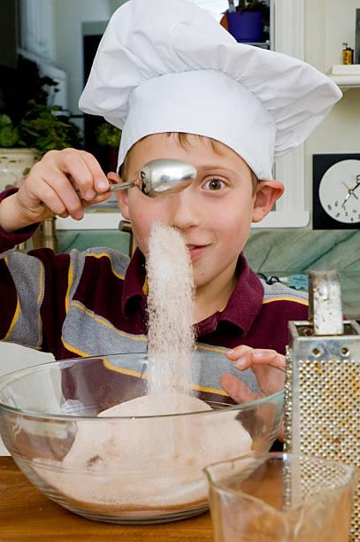 baking a pie 1 stock photo