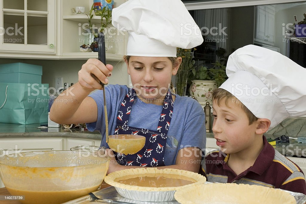 baking a pie 5 stock photo
