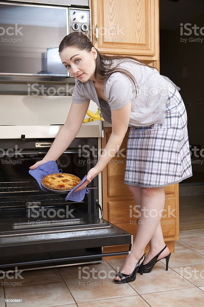 Baking a pie royalty-free stock photo