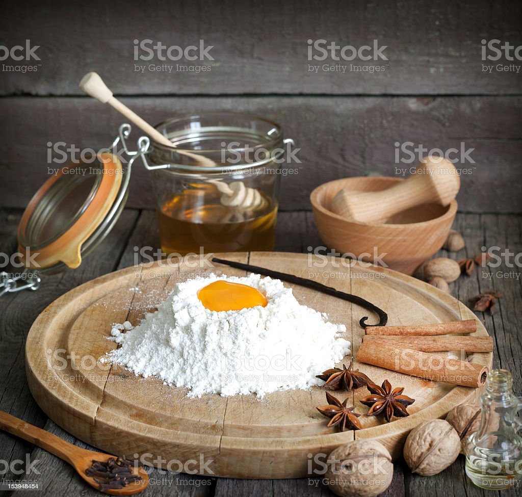 Baking and components stock photo