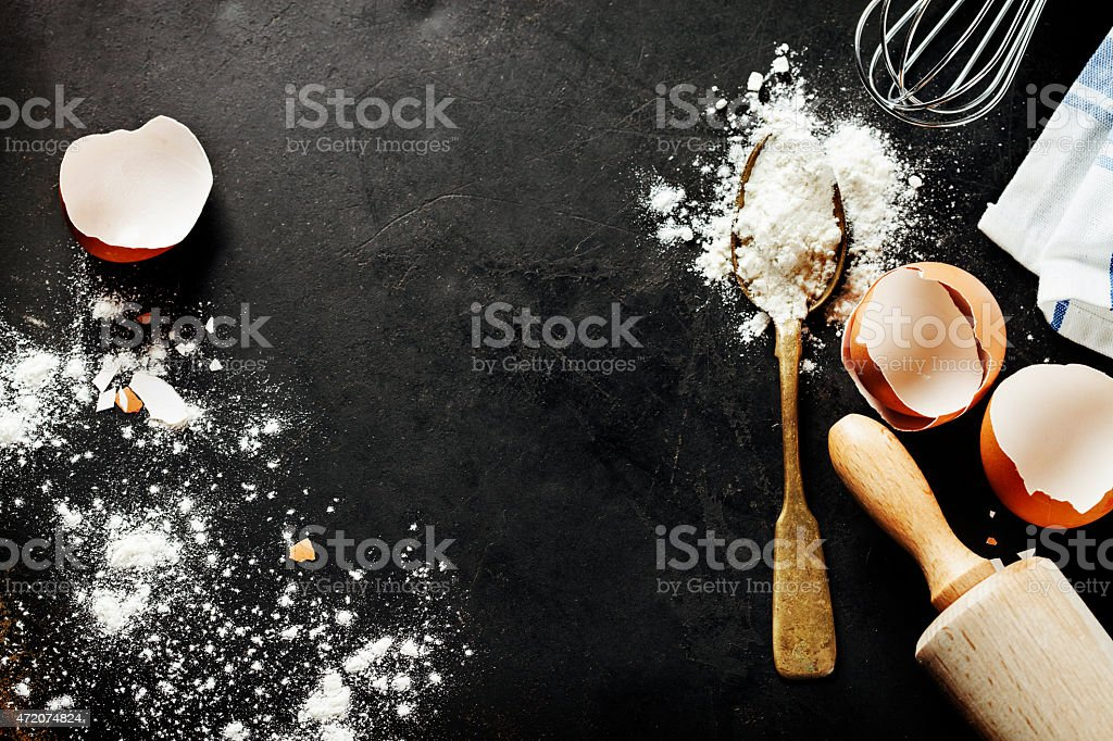 baking background stock photo