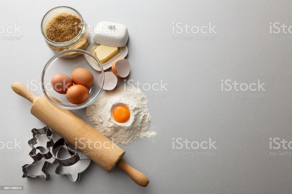 Baking: Baking Ingredients Still Life stock photo