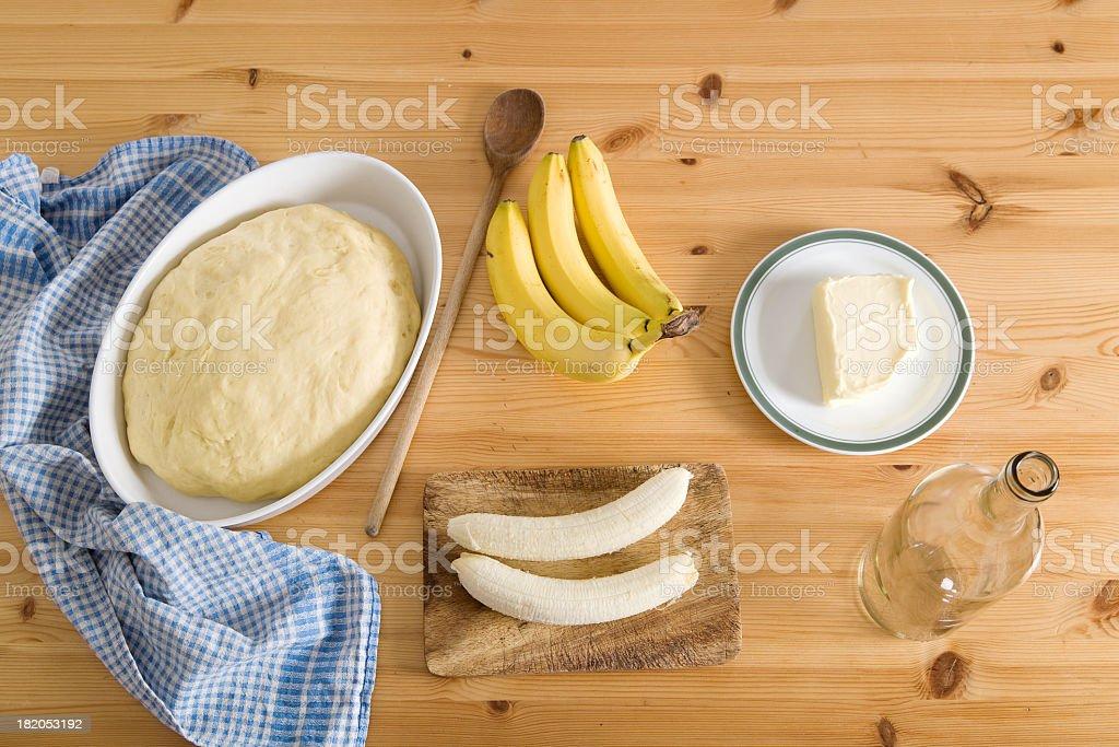 Baking banana bread stock photo