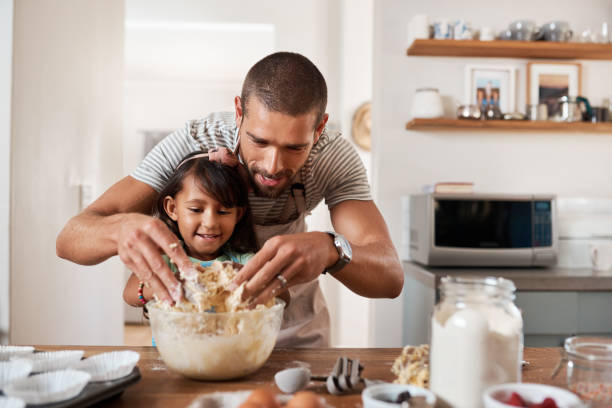 Baking brings out the artist in us all stock photo