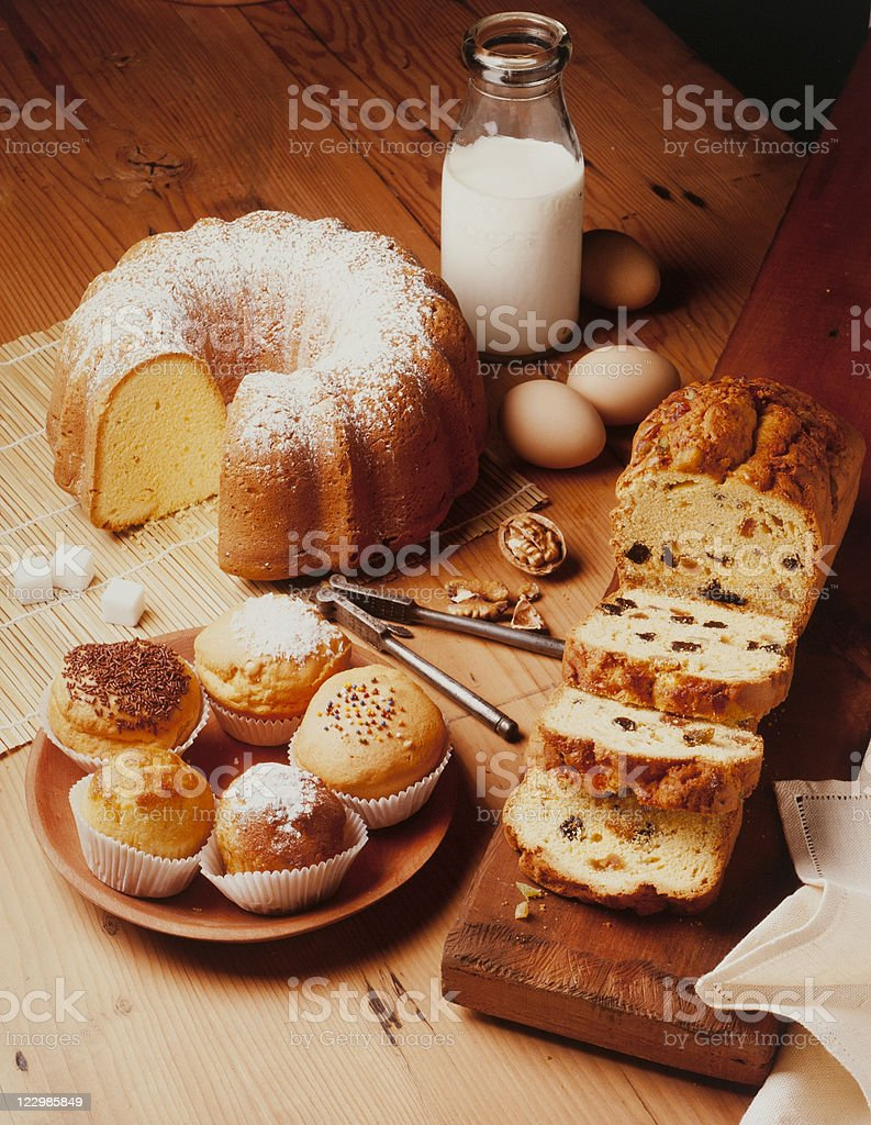 baking cakes royalty-free stock photo