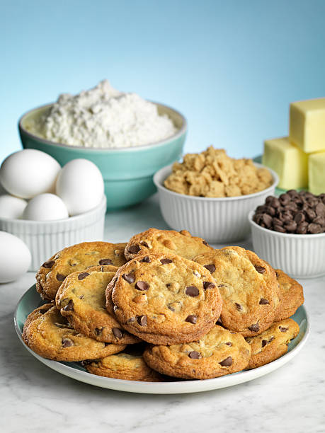 Baking Chocolate Chip Cookies stock photo