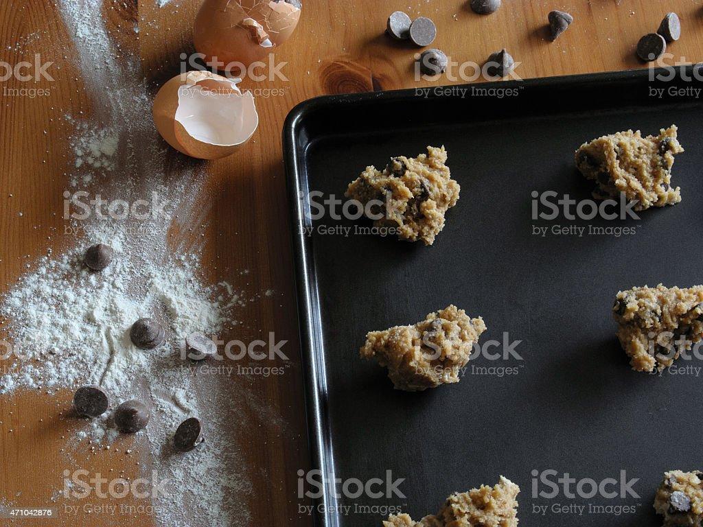 Baking Chocolate Chip Cookies stock photo