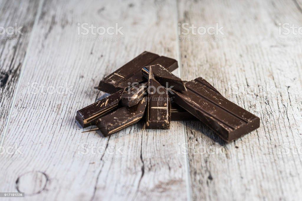 baking chocolate stock photo