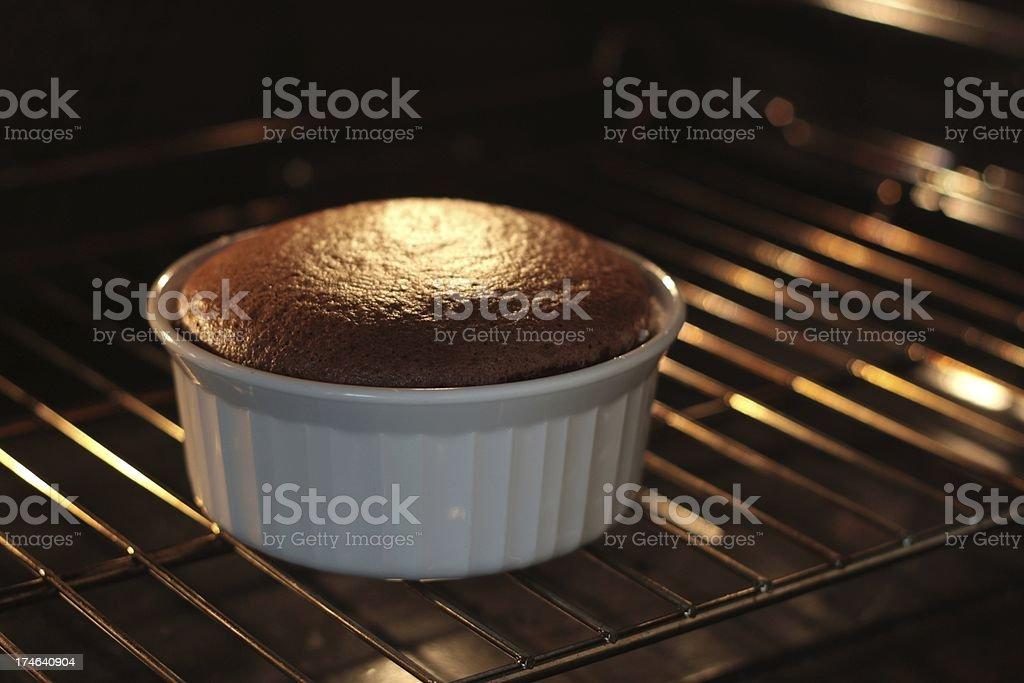 Baking Chocolate Souffle stock photo