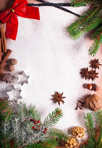 backen weihnachten hintergrund - backrahmen stock-fotos und bilder