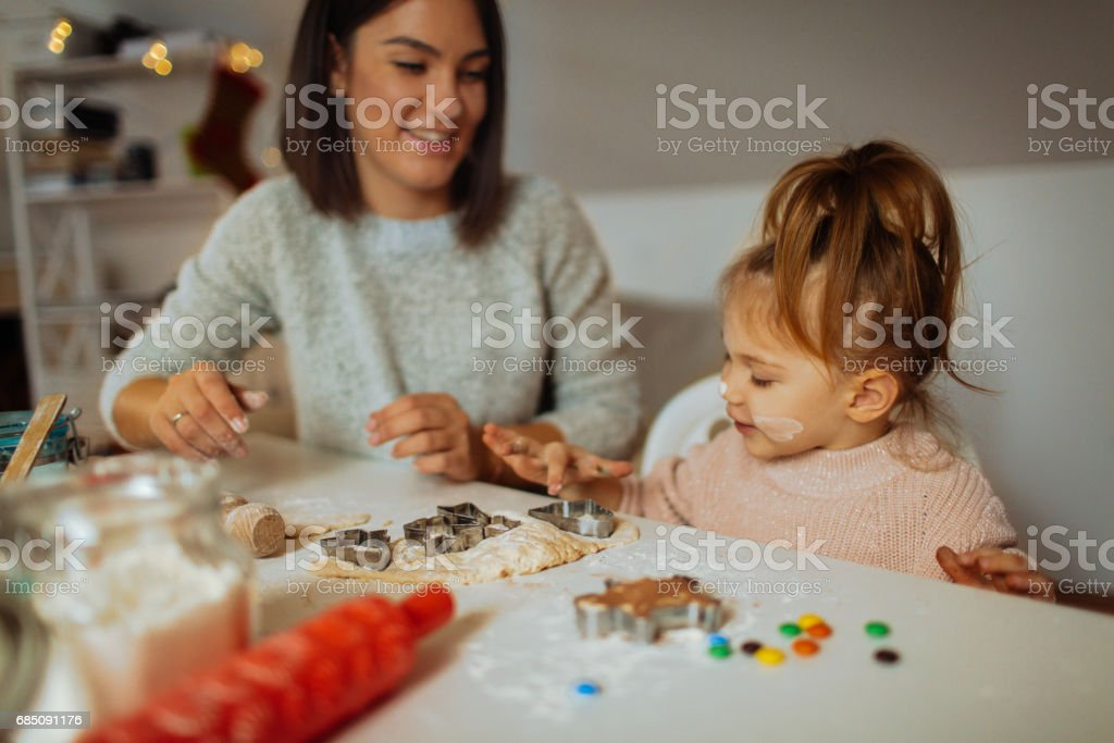 Baking Christmas sweets stock photo