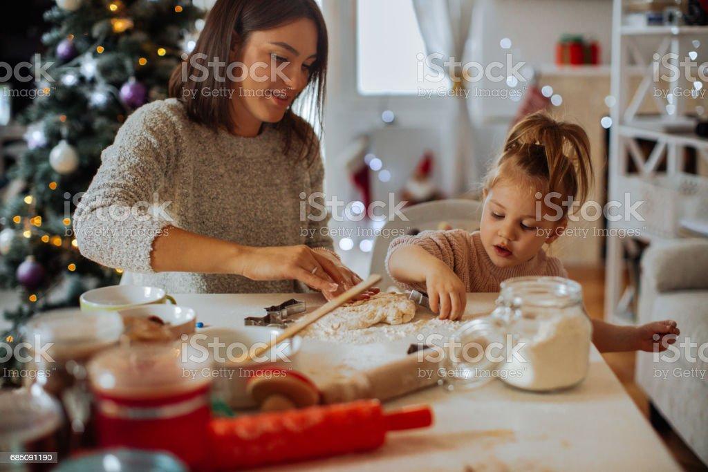 Baking Christmas sweets stock photo