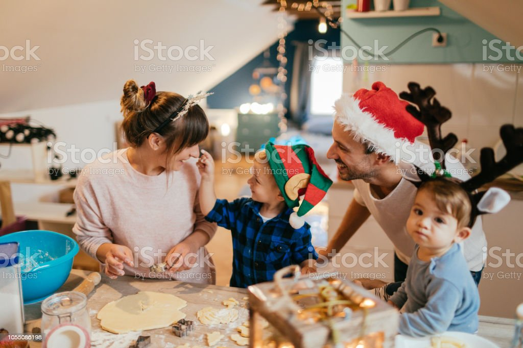 Kekse backen für Weihnachten – Foto