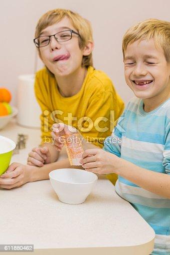istock Baking cookies is fun 611880462