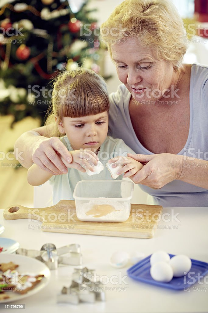 Baking cookies royalty-free stock photo