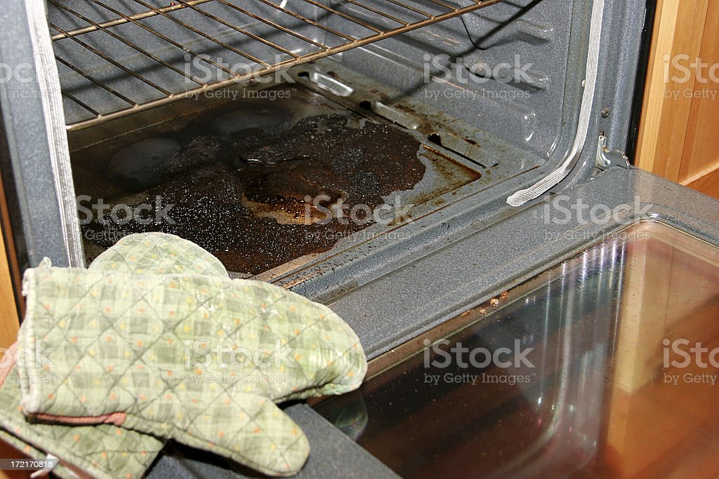 Baking Disaster stock photo