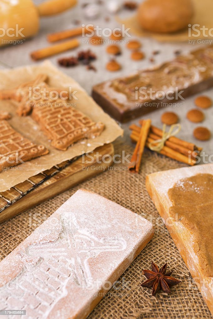 Baking Dutch Speculaas Cookies With Authentic Wooden Cookie Cutters