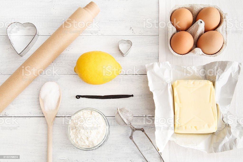 Baking flat lay stock photo