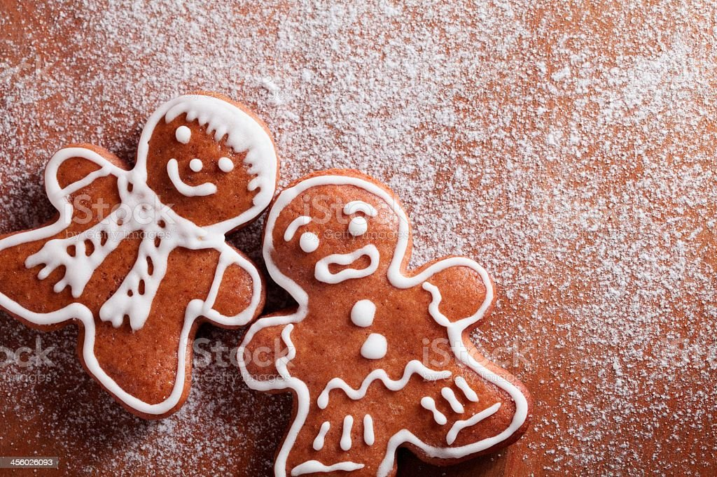 Baking Gingerbread cookies for Christmas  royalty-free stock photo