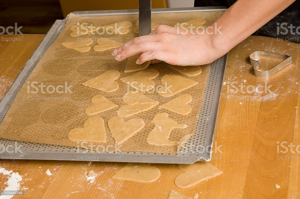 Baking gingerbread royalty-free stock photo
