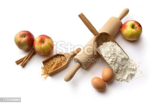 istock Baking Ingredients: Apple Pie (Flour, Eggs, Sugar, Apples, Cinnamon) 172403669