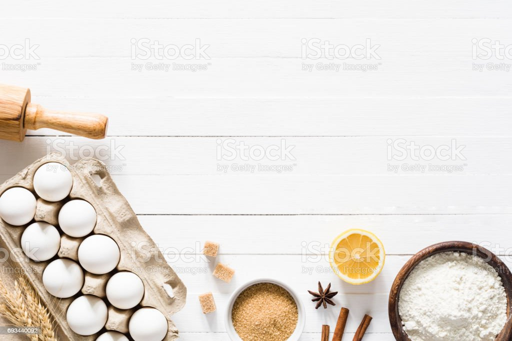 Baking ingredients / cooking food bread pastry or cake