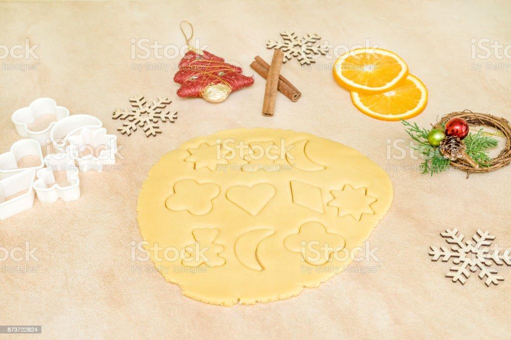 Weihnachtsplätzchen Zutaten.Zutaten Zum Backen Weihnachtsplätzchen Und Lebkuchen Stockfoto Und