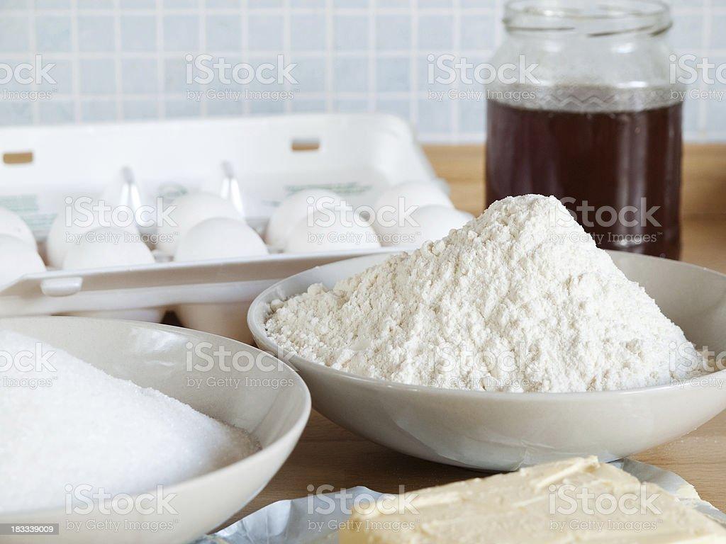 Baking ingredients royalty-free stock photo